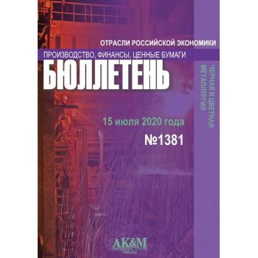 1381 Ferrous and non-ferrous metallurgy